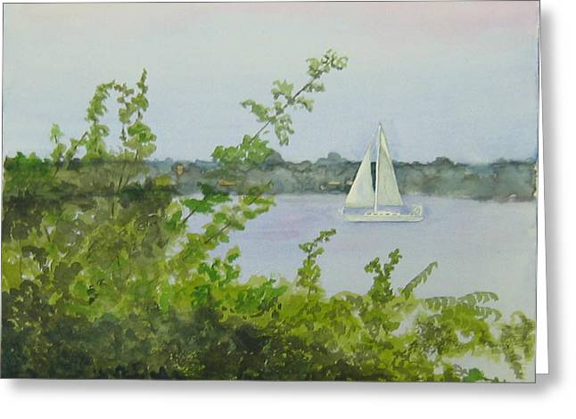 Tennessee River Paintings Greeting Cards - Cruisin the Tennessee Greeting Card by Elizabeth Hornish