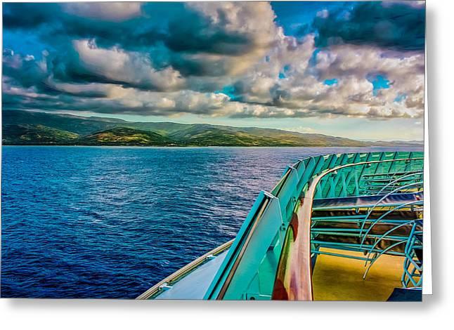 Greater Antilles Greeting Cards - Cruising Hispaniola Greeting Card by John Bailey