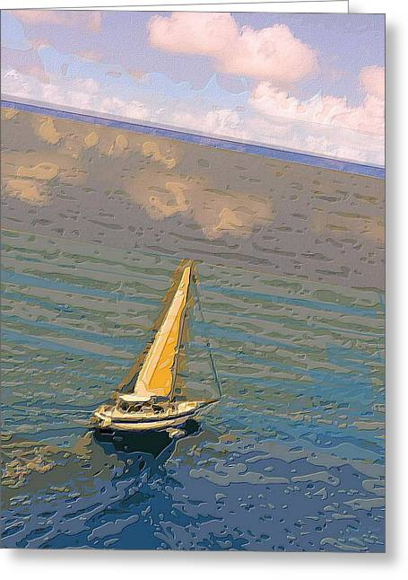 Best Sailing Photos Greeting Cards - Cruising the Caribbean  Greeting Card by Larry E Lamb