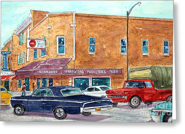 Franklin Tennessee Greeting Cards - Cruisin the Main Drag Greeting Card by Tim Ross