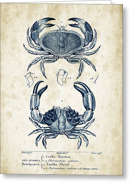 Crayfish Greeting Cards - Crustaceans - 1825 - 06 Greeting Card by Aged Pixel