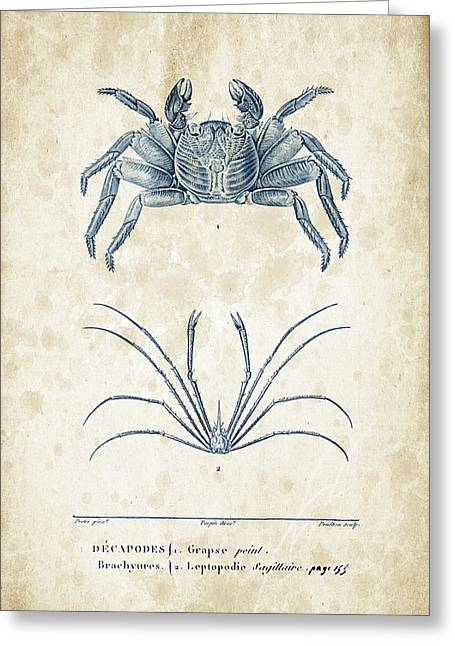 Crayfish Greeting Cards - Crustaceans - 1825 - 14 Greeting Card by Aged Pixel