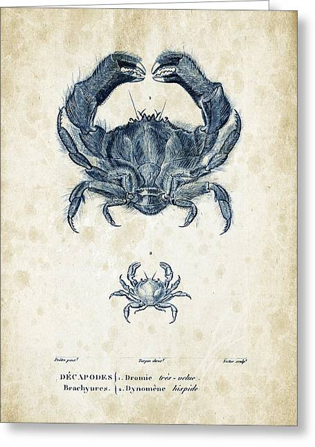Crayfish Greeting Cards - Crustaceans - 1825 - 16 Greeting Card by Aged Pixel
