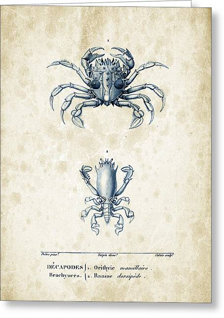 Crayfish Greeting Cards - Crustaceans - 1825 - 17 Greeting Card by Aged Pixel