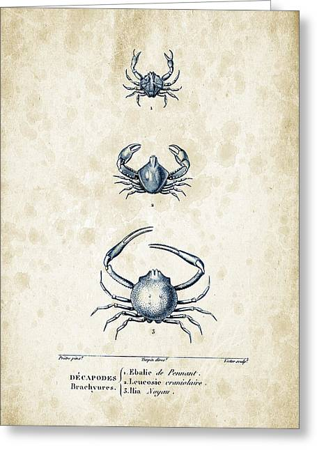 Crayfish Greeting Cards - Crustaceans - 1825 - 25 Greeting Card by Aged Pixel
