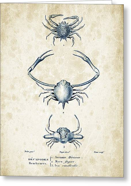 Crayfish Greeting Cards - Crustaceans - 1825 - 26 Greeting Card by Aged Pixel