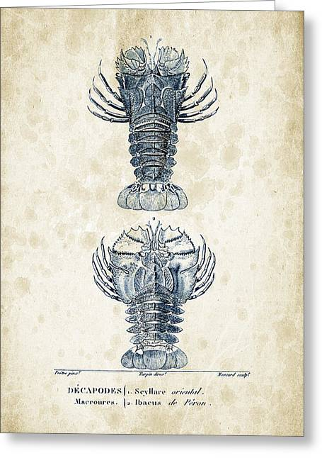 Fossils Greeting Cards - Crustaceans - 1825 - 29 Greeting Card by Aged Pixel