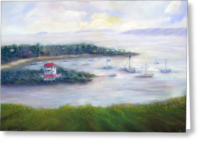 Virgin Pastels Greeting Cards - Cruz Bay Remembered Greeting Card by Loretta Luglio