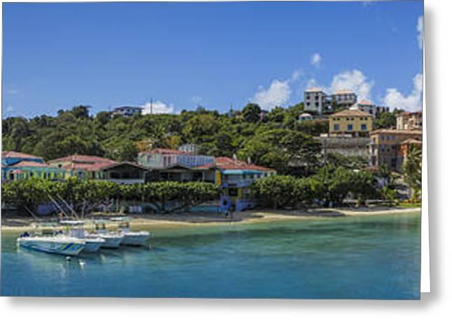 Cruz Bay, St. John Greeting Card by Adam Romanowicz