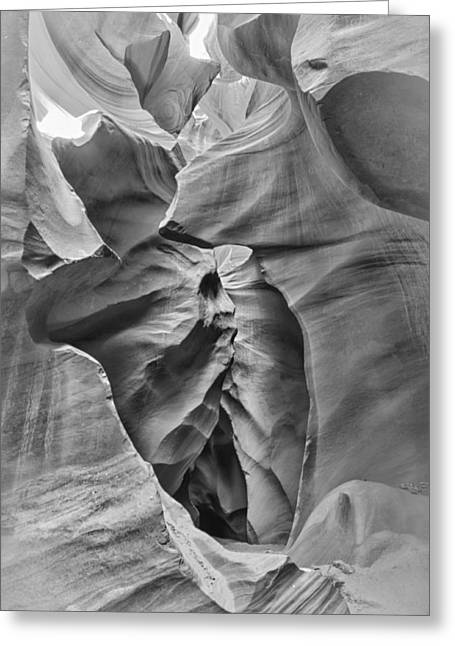 Licht Greeting Cards - Crying Face - Antelope Canyon Greeting Card by Andreas Freund