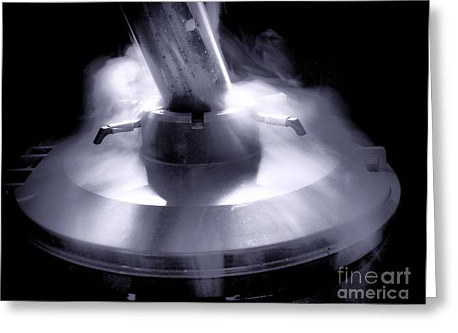 Nitrogen Greeting Cards - Cryogenics Greeting Card by Olivier Le Queinec