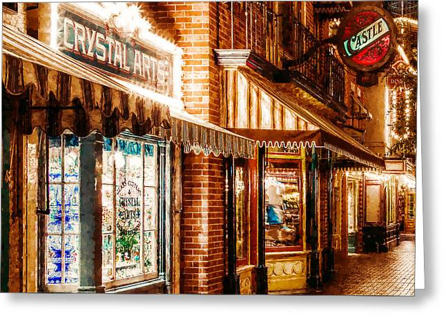 Store Fronts Greeting Cards - Crystal Arts Greeting Card by Lanjee Chee