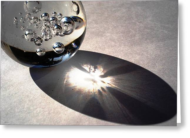 Crystal Ball With Trapped Air Bubbles Greeting Card by Sumit Mehndiratta