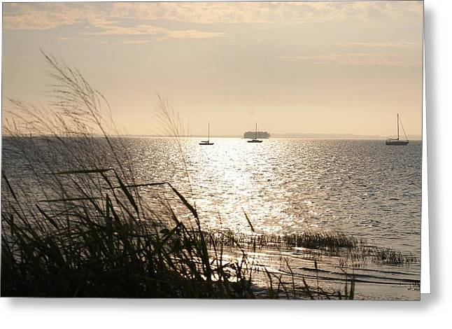Crystal Beach Greeting Card by Peter  McIntosh