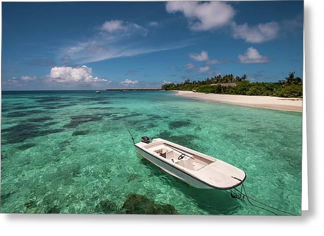 Crystal Clarity. Maldives Greeting Card by Jenny Rainbow