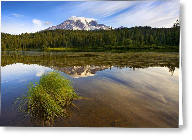 Mt Greeting Cards - Crystal Clear Greeting Card by Mike  Dawson