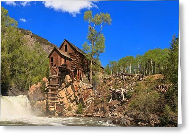 Crystal Mill Greeting Cards - Crystal Colorado Historic Mill Greeting Card by Adam Jewell