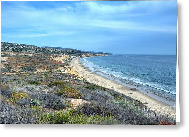 So Cal Greeting Cards - Crystal Cove Shoreline Greeting Card by Eddie Yerkish