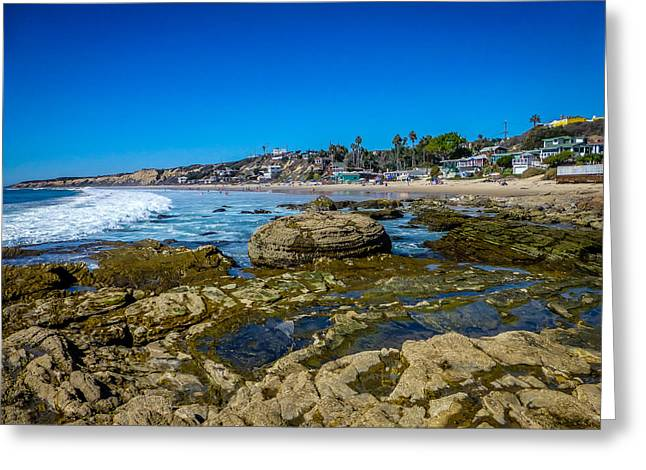 California Ocean Photography Greeting Cards - Crystal Cove Sunny Shore Greeting Card by Pamela Newcomb