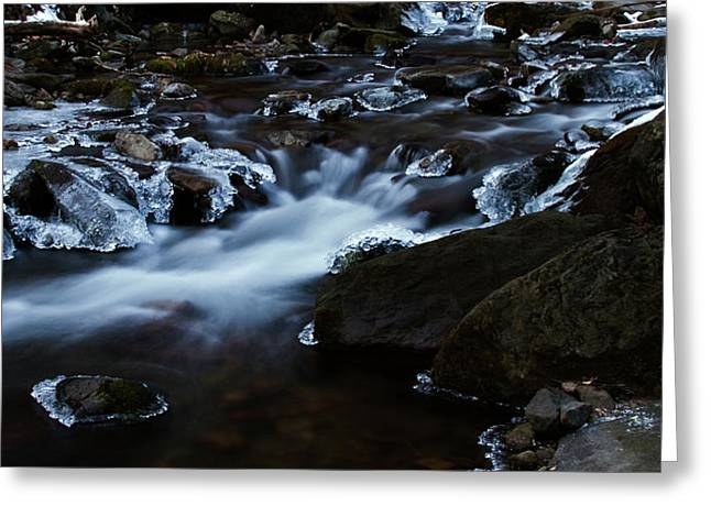 Crystal Flows In Hdr Greeting Card by Joseph Noonan