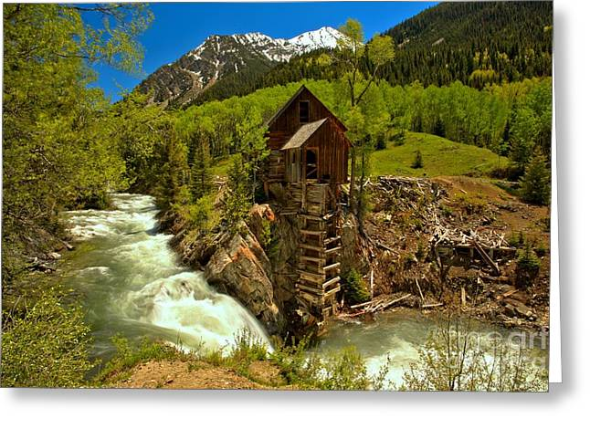 Crystal Mill Greeting Cards - Crystal Mill Summer Landscape Greeting Card by Adam Jewell