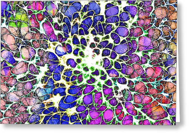 Chakra Rainbow Digital Greeting Cards - Crystal Musings 1 Greeting Card by Dorothy Berry-Lound