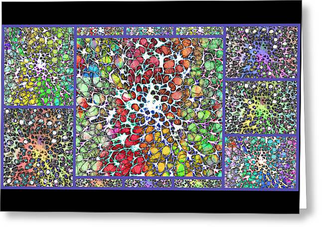 Chakra Rainbow Greeting Cards - Crystal Musings Collage Greeting Card by Dorothy Berry-Lound