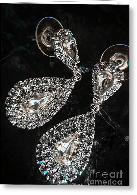 Crystal Rhinestone Jewellery Greeting Card by Jorgo Photography - Wall Art Gallery