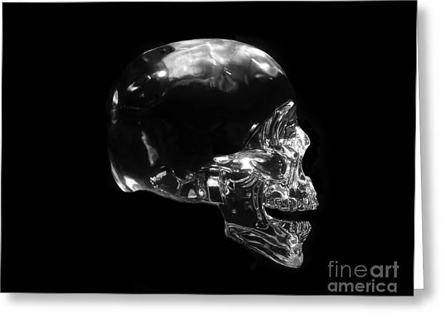 Humane Greeting Cards - Crystal Skull Greeting Card by David Lee Thompson