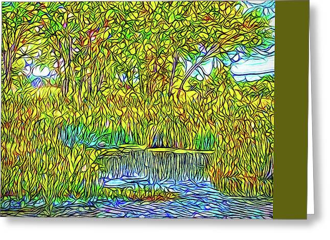 Impressionist Greeting Cards - Crystalline Trees - Lake In Boulder County Colorado Greeting Card by Joel Bruce Wallach