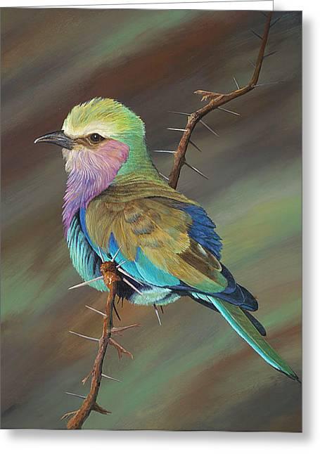 Annajo Vahle Greeting Cards - Crystals bird Greeting Card by AnnaJo Vahle
