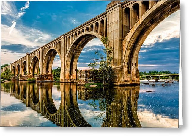 Csx A Line Bridge Greeting Card by Tim Wilson