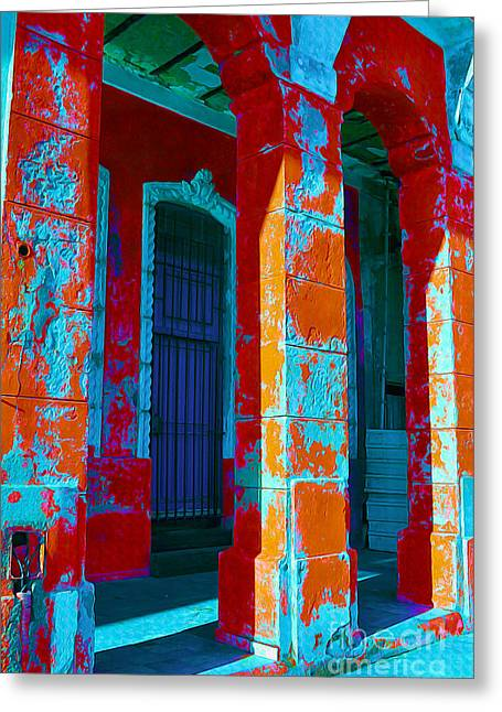 Old Door Mixed Media Greeting Cards - Cuba Architecture Greeting Card by Chris Andruskiewicz