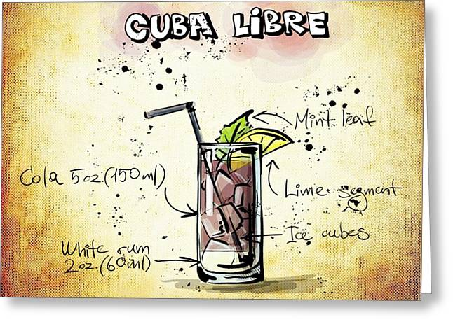 Gathering Mixed Media Greeting Cards - Cuba Libre Greeting Card by Movie Poster Prints