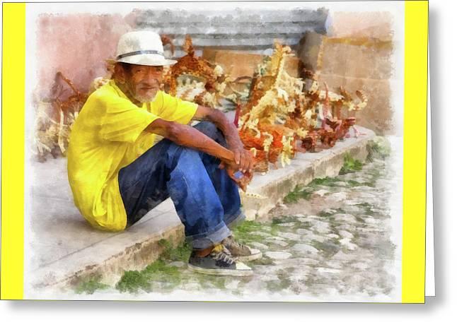 Cuban Artist Greeting Card by Dawn Currie