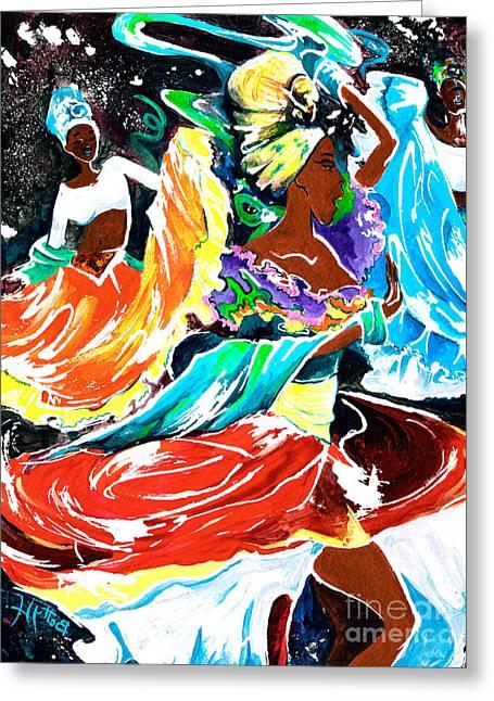 Elisabeta Hermann Greeting Cards - Cuban Dancers - Magical Rhythms... Greeting Card by Elisabeta Hermann