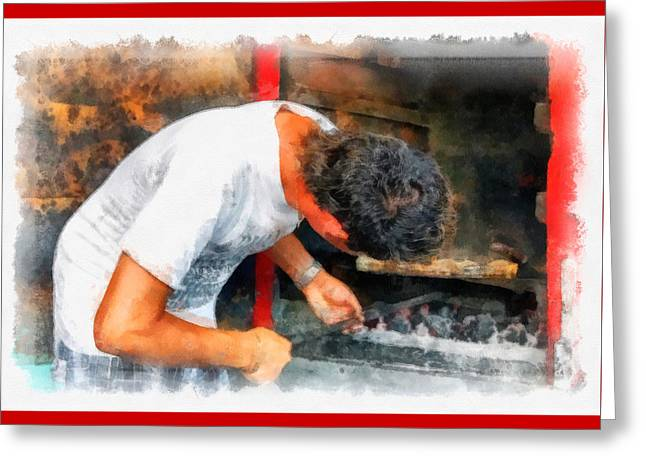Cuban Greeting Cards - Cuban Grill Chef Greeting Card by Dawn Currie
