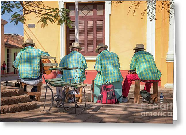 Cuban Music Greeting Card by Delphimages Photo Creations