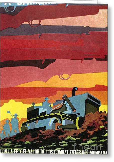 Farmers Field Greeting Cards - CUBAN POSTER, 1960s Greeting Card by Granger