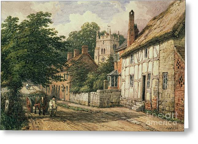 Pulling Greeting Cards - Cubbington in Warwickshire Greeting Card by Thomas Baker