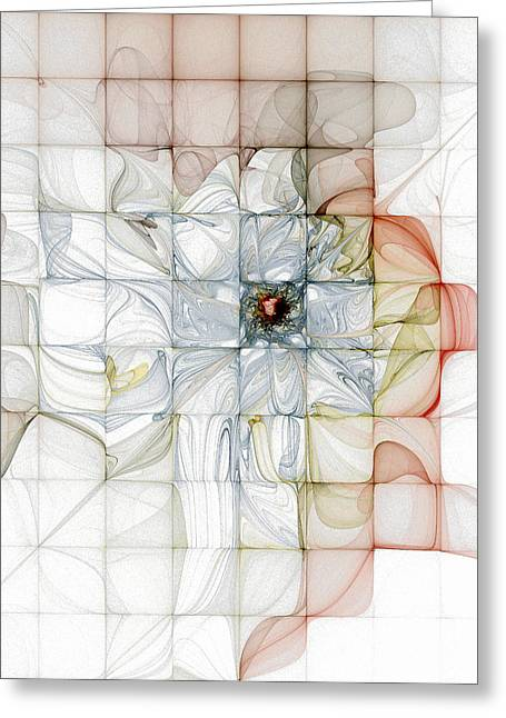 Cubed Pastels Greeting Card by Amanda Moore