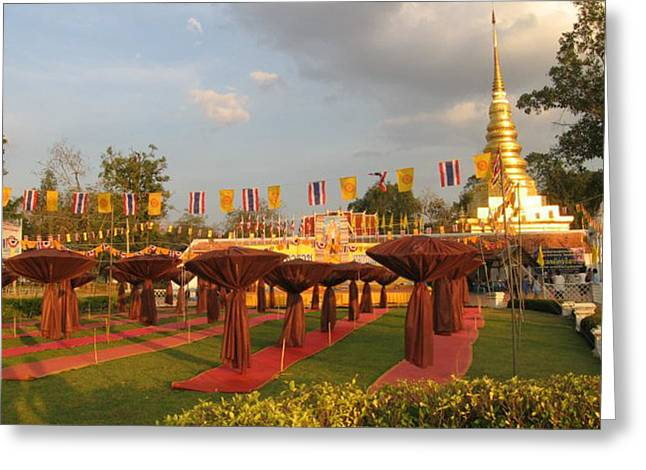 cubicles of Thai monk Greeting Card by Knot Frazher