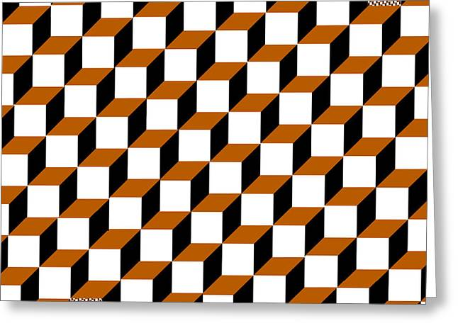 Clayton Greeting Cards - Cubism Squared Greeting Card by Clayton Bruster