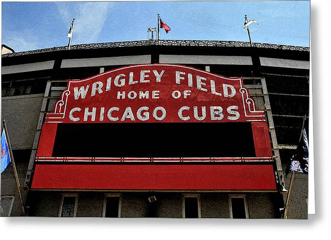 Chicago Digital Greeting Cards - Cubs House Greeting Card by Lyle  Huisken