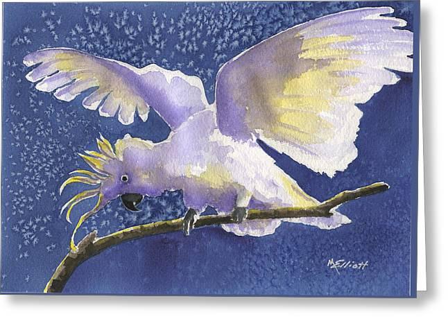 Cuckoo Cockatoo Greeting Card by Marsha Elliott