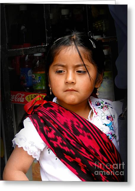 Innocence Child Greeting Cards - Cuenca Kids 622 Greeting Card by Al Bourassa