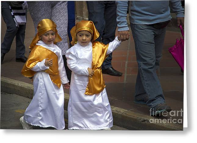 Child Jesus Greeting Cards - Cuenca Kids 644 Greeting Card by Al Bourassa