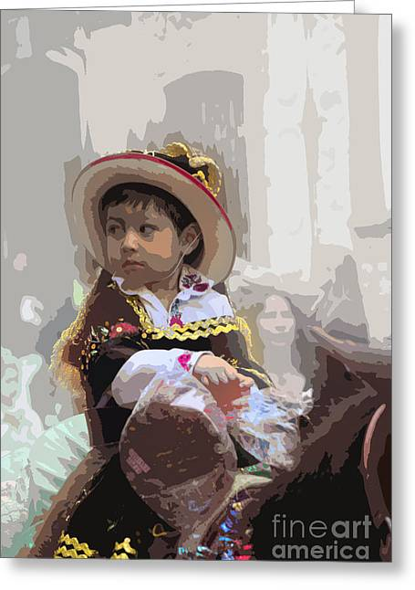 Innocence Greeting Cards - Cuenca Kids 649 Greeting Card by Al Bourassa