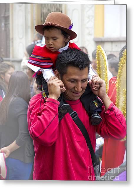 Cuenca Kids 651 Greeting Card by Al Bourassa