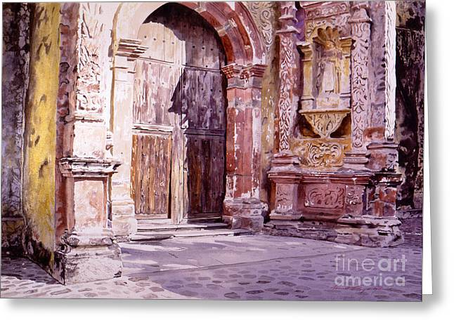 Cathedral Greeting Cards - Cuernavaca Cathedral Greeting Card by David Lloyd Glover